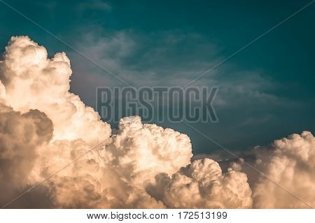 large cumulus clouds before a storm natural background