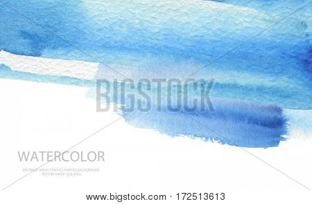 Abstract watercolor brush strokes painted background. Texture paper. Isolated. Business card template.