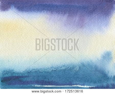 Abstract watercolor landscape painted background. Texture paper.