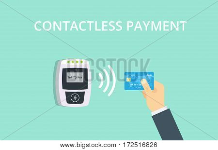 Contactless payment vector illustration. Near-field communication concept.