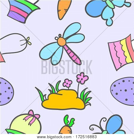 Doodle of easter style cartoon vector art
