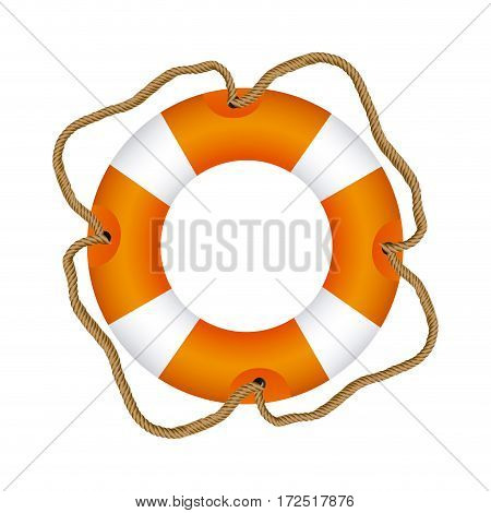 color lifebuoy icon image, vector illustration design