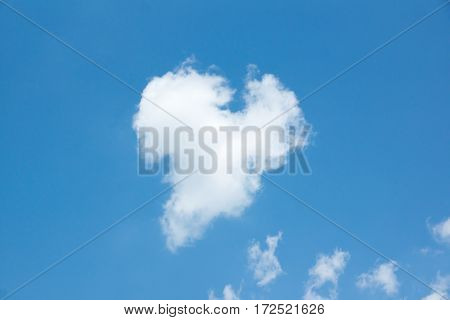white clouds moving in blue sky summer day