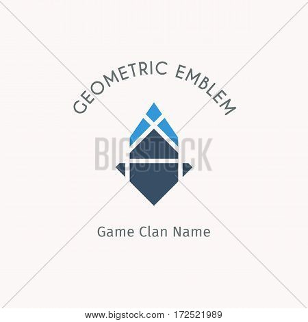 Geometric logo template. Vector modern symbol for alternative or extreme sport teams and crews
