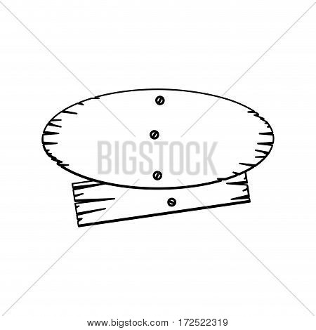 silhouette wood notices icon, vector illustration design