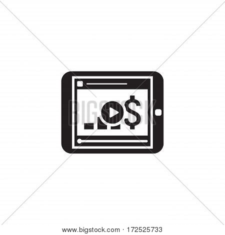 Video Lessons Icon. Business Concept. Flat Design. Isolated Illustration.