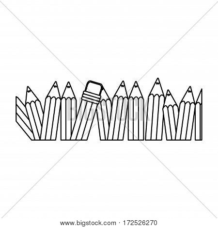 contour pencil color icon stock, vector illustration design image