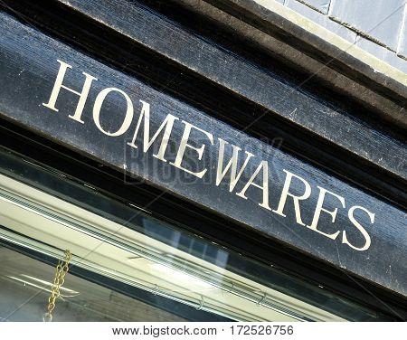 Homewares Sign