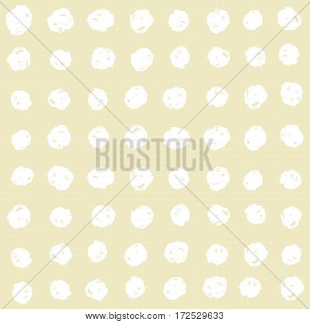 Paint dots seamless pattern. Vector hand drawn background