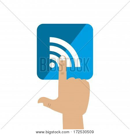 wifi sign isolated icon vector illustration design