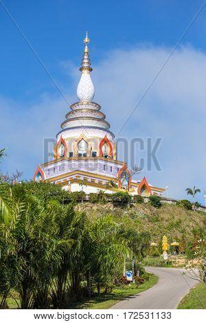 Wat Chedi Kaew Thaton temple or Crystal Pagoda, Chiangmai province, Thailand