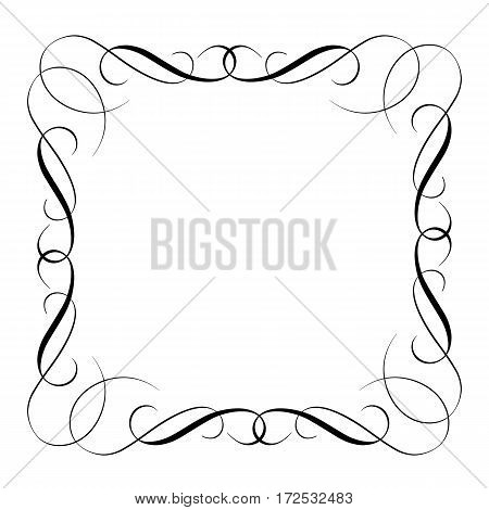 elements of vintage set decorative whorls for design. Vector illustration EPS10.