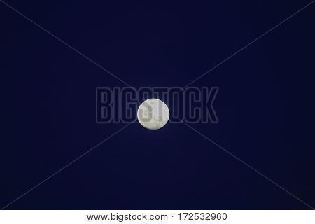 Full moon beautiful over dark sky in night