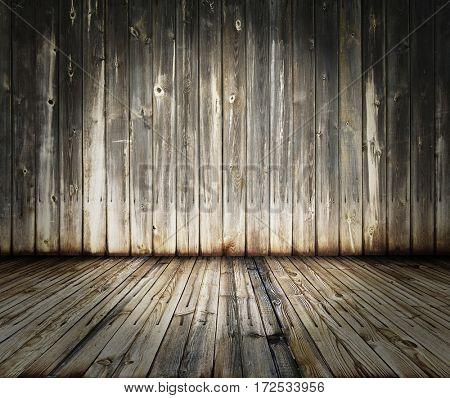 old wooden interior, grunge background