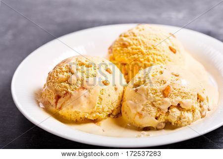 Plate Of Ice Cream Scoops
