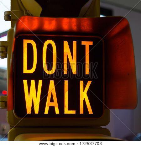 Traffic Lights with Dont Walk Street Signal