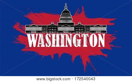 Abstract image of capitol in washington dc city