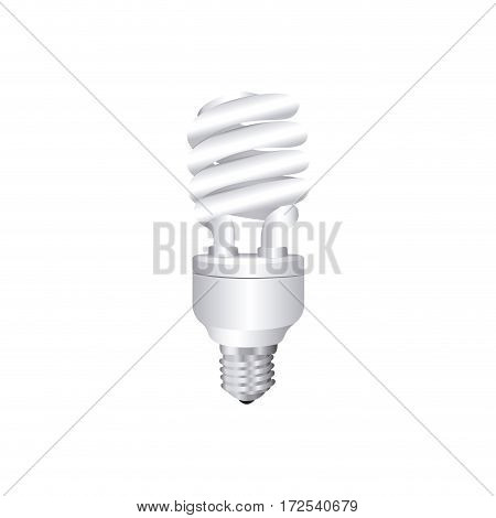 grayscale silhouette with spiral fluorescent lamp vector illustration