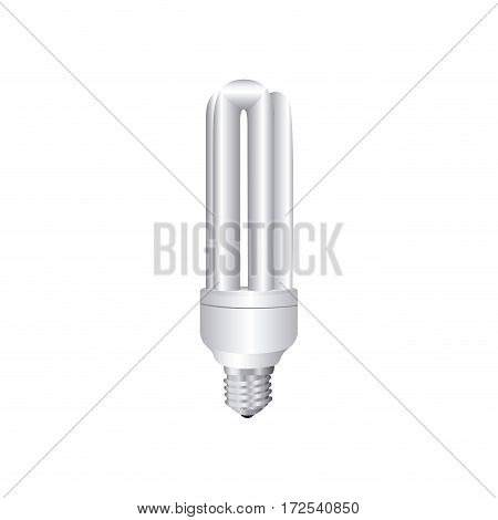 grayscale silhouette with fluorescent lamp vector illustration