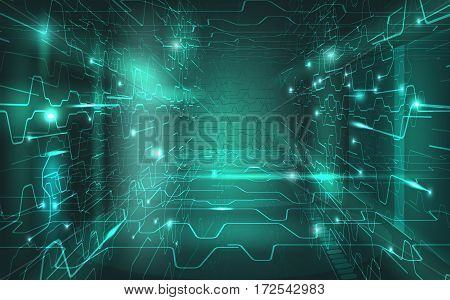 Vector Abstract Digital Background Eps10 Gradient Mesh and Transparency Used