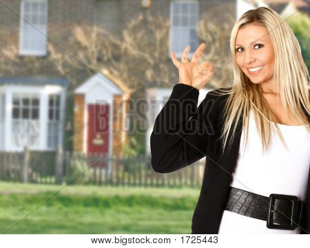Attractive Blond Estate Agent