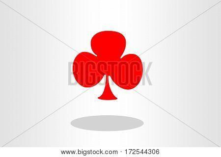 Illustration of club card against plain background