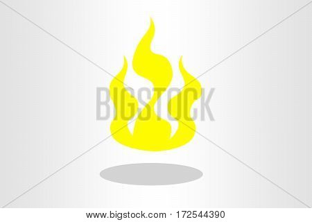 Illustration of a fire against plain background