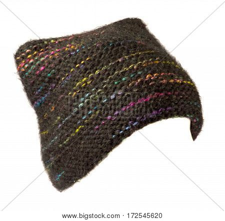 Women's Hat . Knitted Hat Isolated On White Background .multicolored Hat