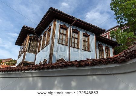 House from the period of Bulgarian Revival in old town of Plovdiv, Bulgaria
