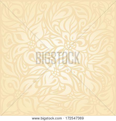 Floral Retro wedding pale peach invitation background design