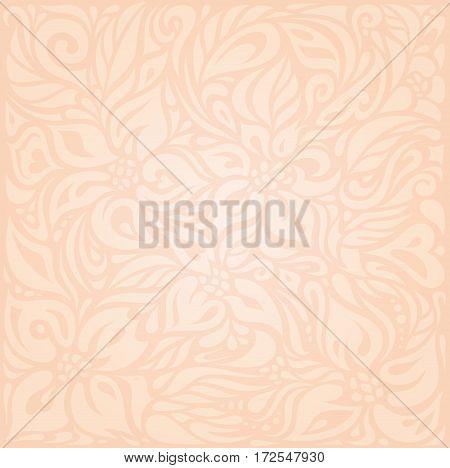 Retro floral Pale ecru vector decorative pattern design