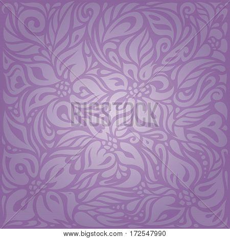 Violet Floral vintage seamless pattern background design