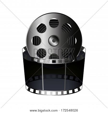 reel tape record isolated icon vector illustration design