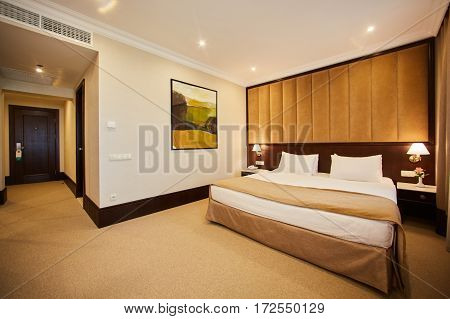 The Interior of modern comfortable hotel room