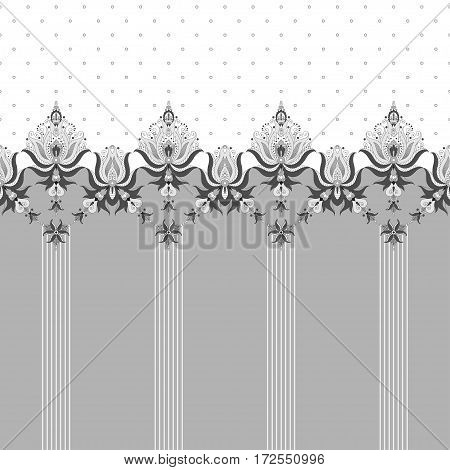 Abstract vector background. Two simple background and border. Oriental pattern with stripes and decorative items. Ample opportunities for use. Easily edit the colors.