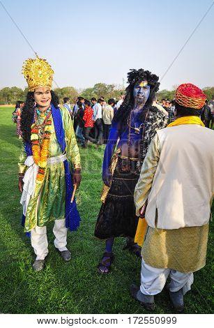 Rajasthani Folk Dancers In Colorful Perform