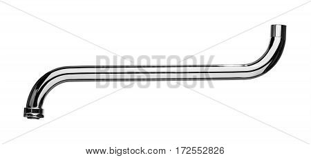 Silver spout tap isolated on a white background