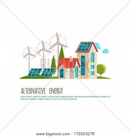 Alternative energy, urban landscape, ecology for your design