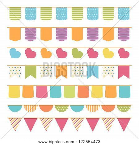 Seamless bunting for decoration of invitations, greeting cards etc, bunting flags, vector eps10 illustration