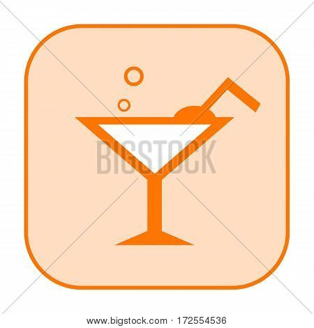 Cocktail drink icon isolated on white background
