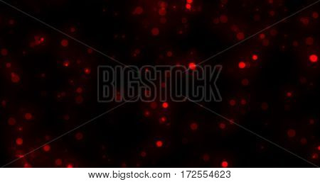 Abstract Red Glitter Explosion on Black Background