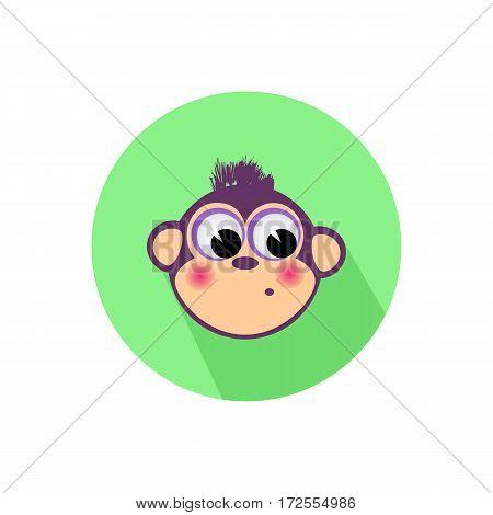 Icon Monkey On The Isolated White Background