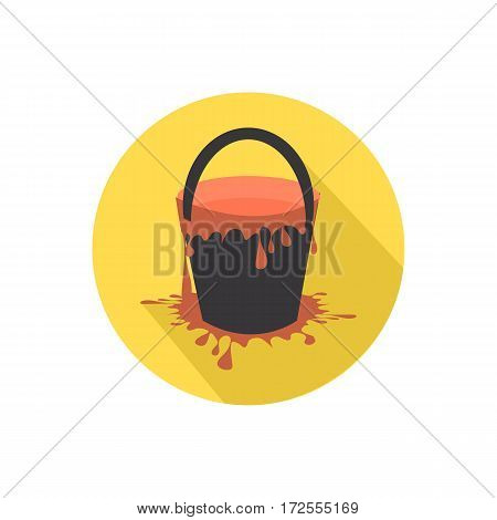 Paint Bucket Icon Isolated On A White Background