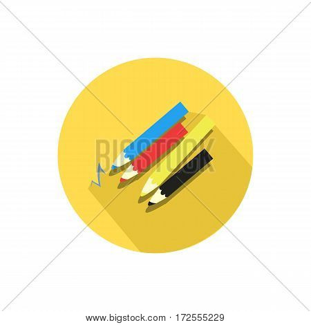 Pencil Icon Isolated On A White Background