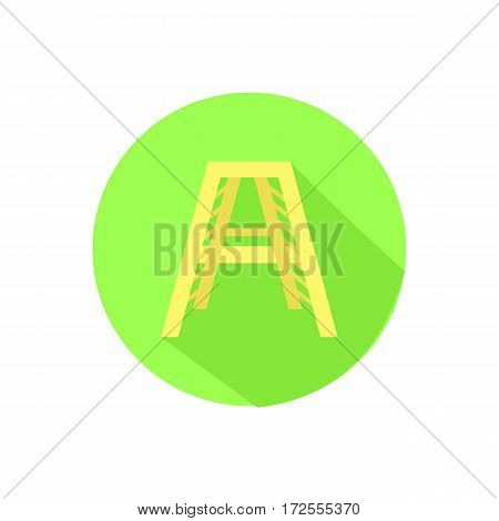 Icon Stairs On An Isolated White Background