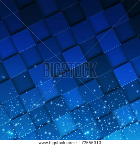 3d square mosaic. Modern colorful texture composed of tiles witn magic sparcle to it. Vector illustration eps 10