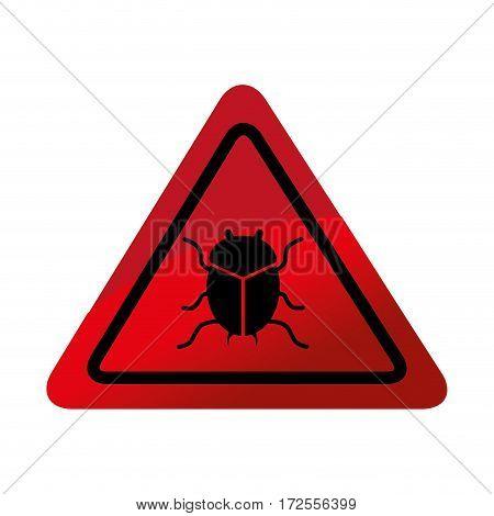 bug virus alert icon vector illustration design