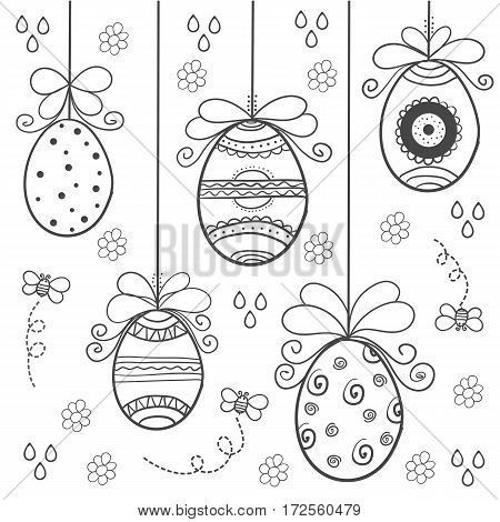 Doodle of easter hand draw vector art