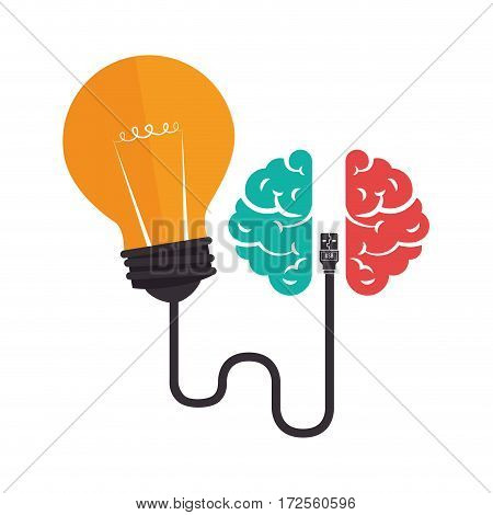 brain storm with bulb vector illustration design