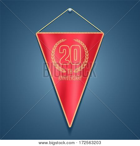 20 years anniversary vector icon, logo. Graphic design element for decoration for 20th anniversary card
